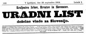 Uradni list deželne vlade za Slovenijo št.152_1919