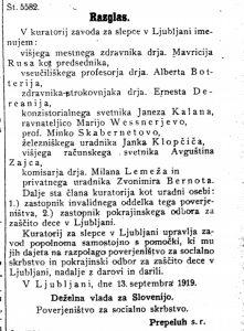 Uradni listdeželne vlade za Slovenijo št.152_1919_Razglas št. 5582