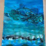 Ribe v globini morja. Avtorica: Iza