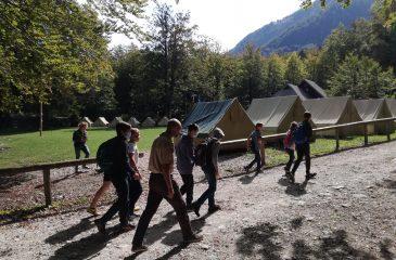 Prihod na taborniški center Bohinj